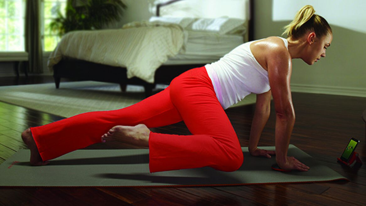 Woman doing a workout with Activ5