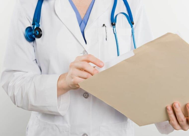 Doctor with medical file